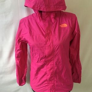 The north face hyvent pink jacket size l girls